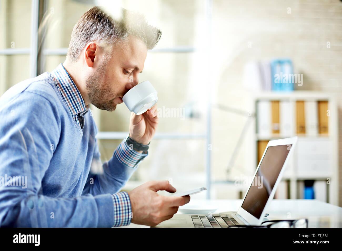 Modern employee - Stock Image