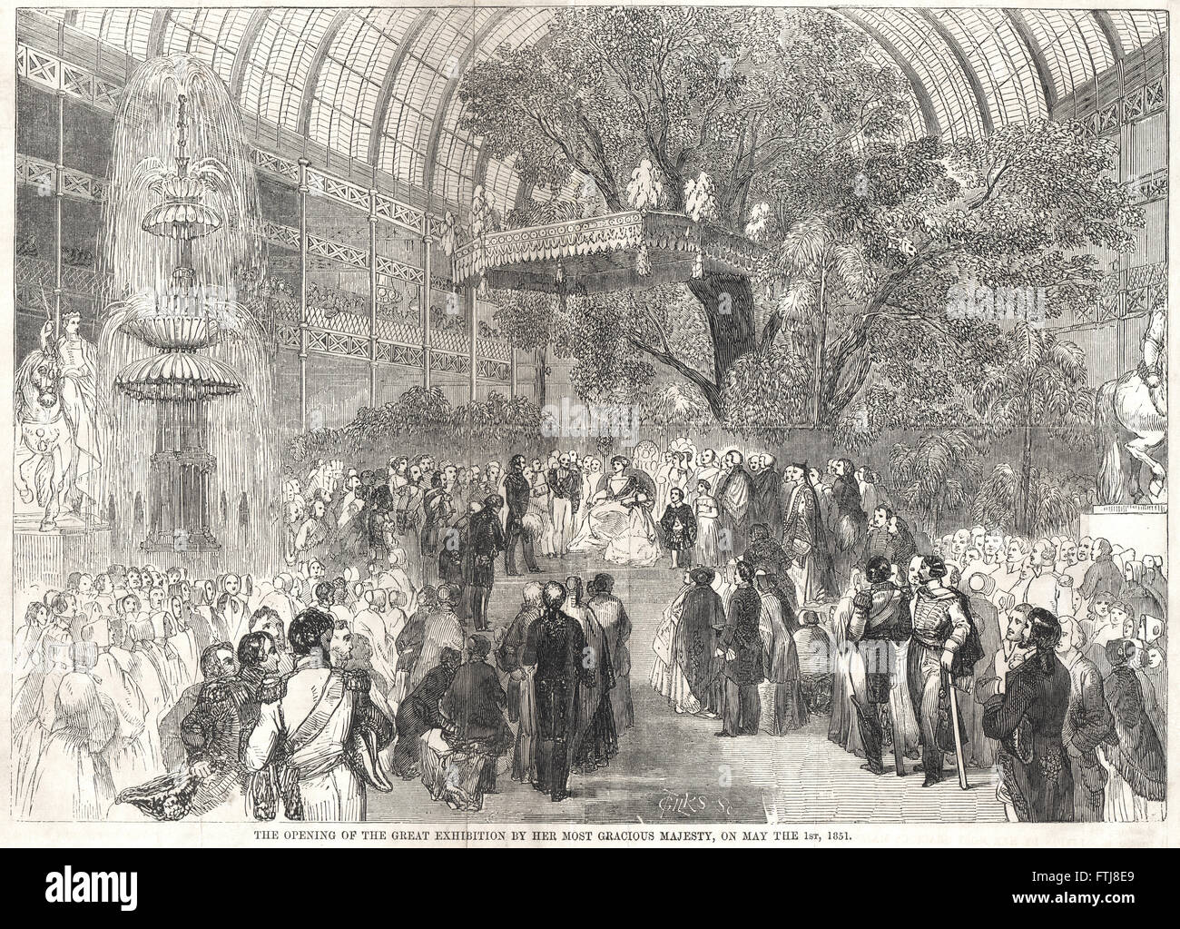 Queen Victoria Opening the Great Exhibition of 1851 - Stock Image