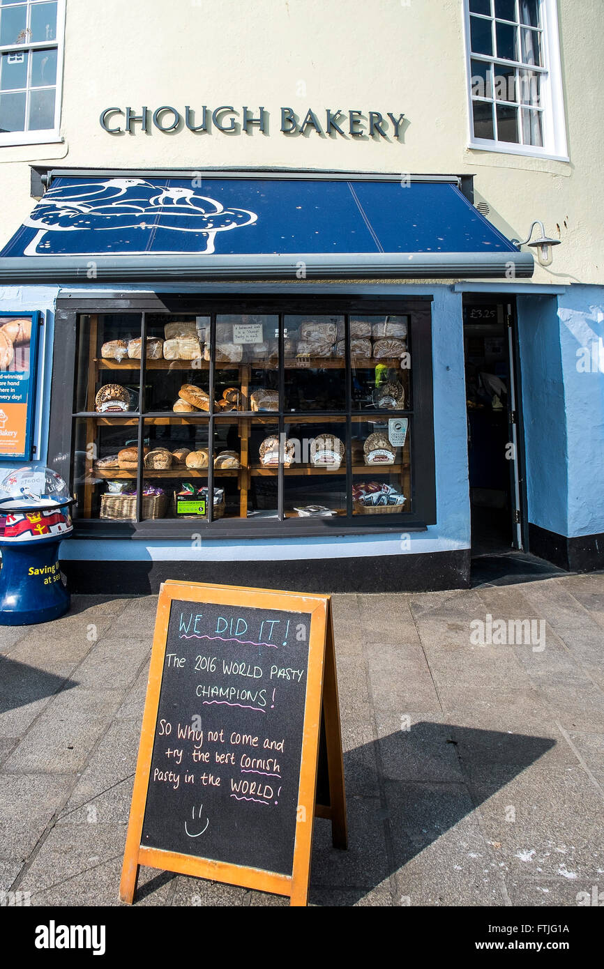 The award winning Chough Bakery in Padstow, Cornwall. - Stock Image