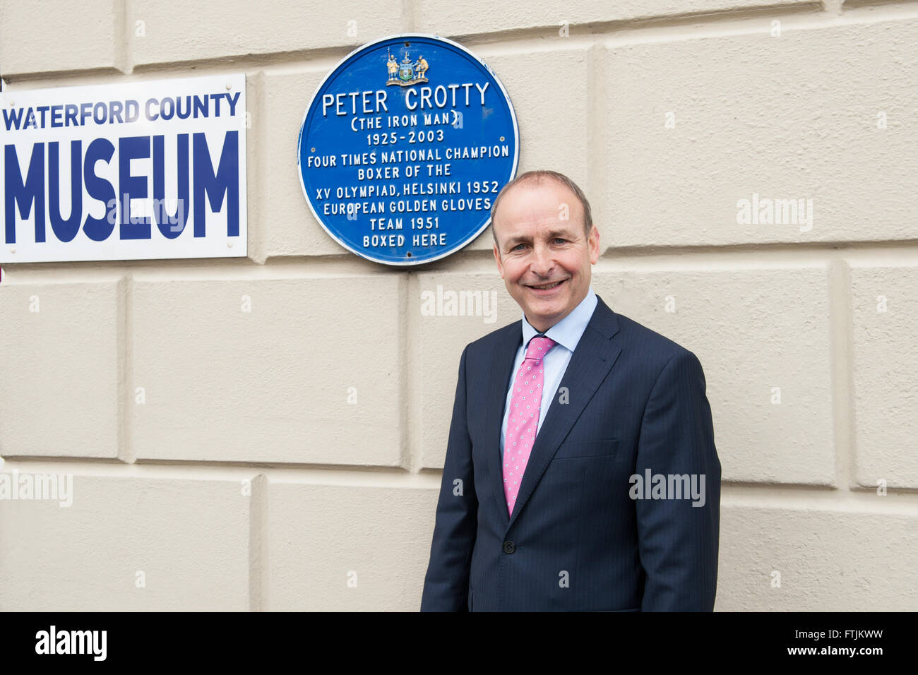 Former Minister of Health in Ireland, Micheál Martin who is the leader of the Irish Political Party Fianna - Stock Image