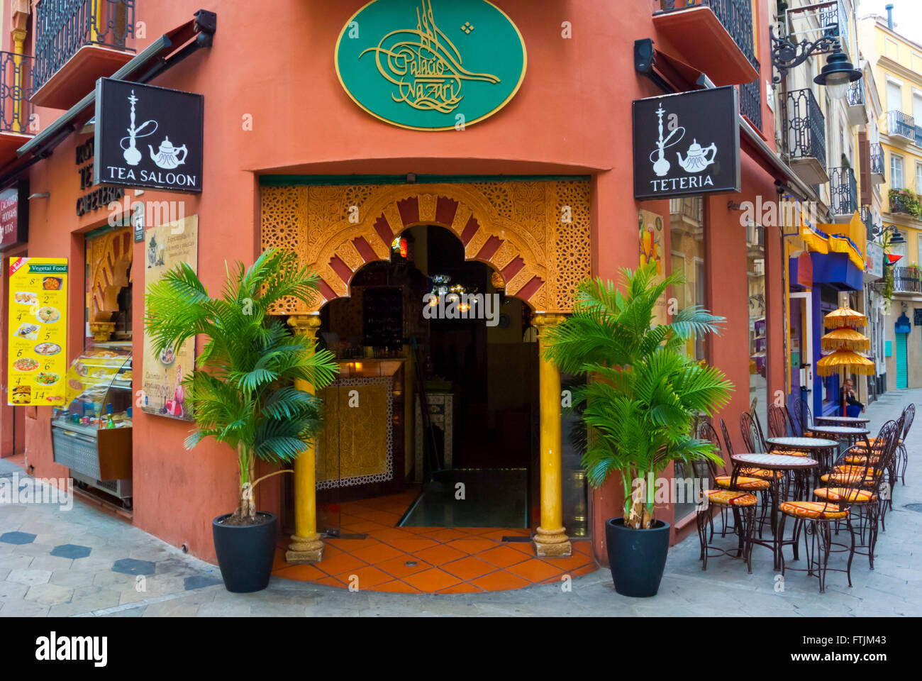 Teteria, tea saloon, old town, Malaga, Andalucia, Spain Stock Photo
