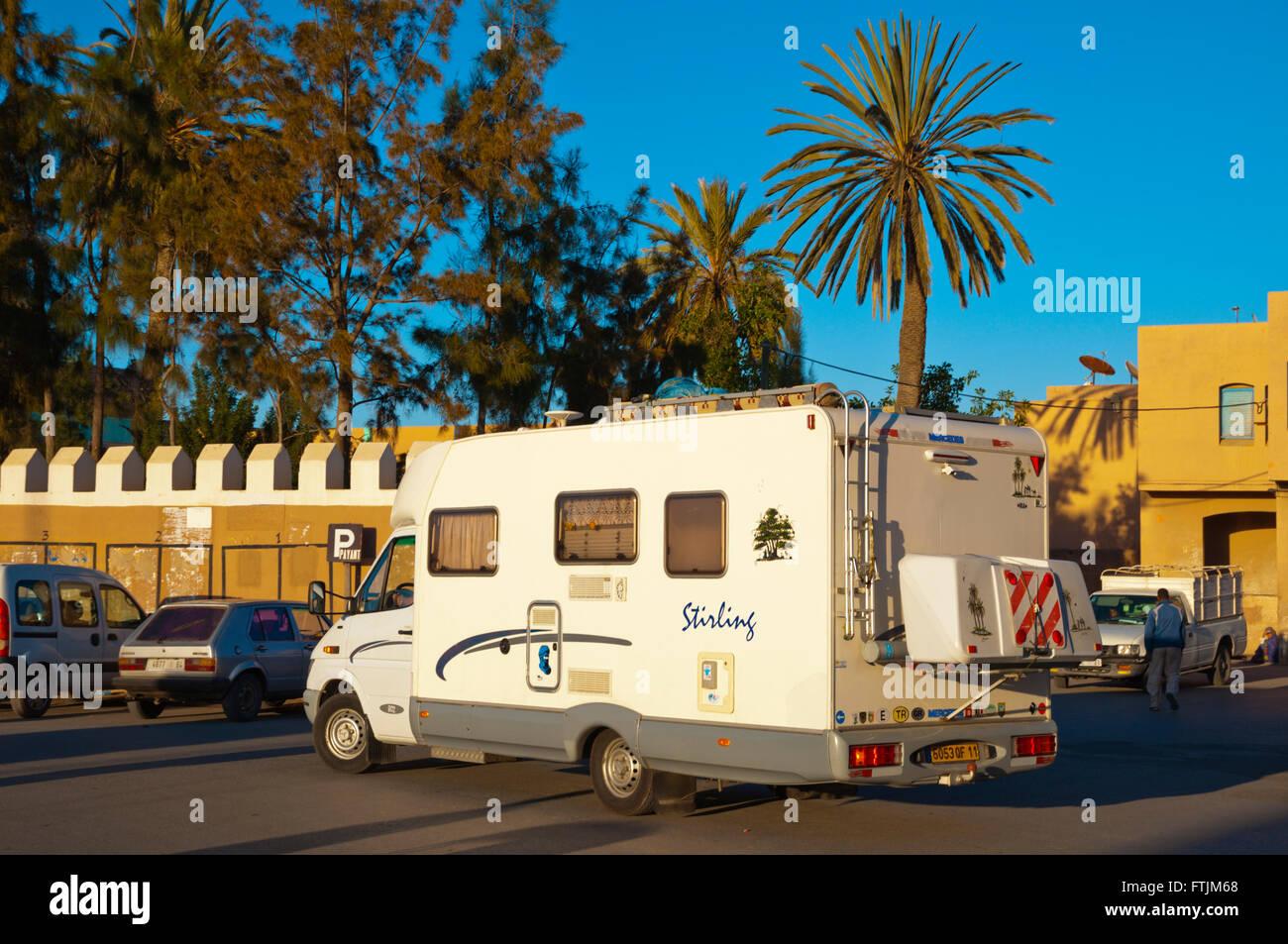 Campervan, Tiznit, Souss-Massa-Drâa, southern Morocco, northern Africa - Stock Image