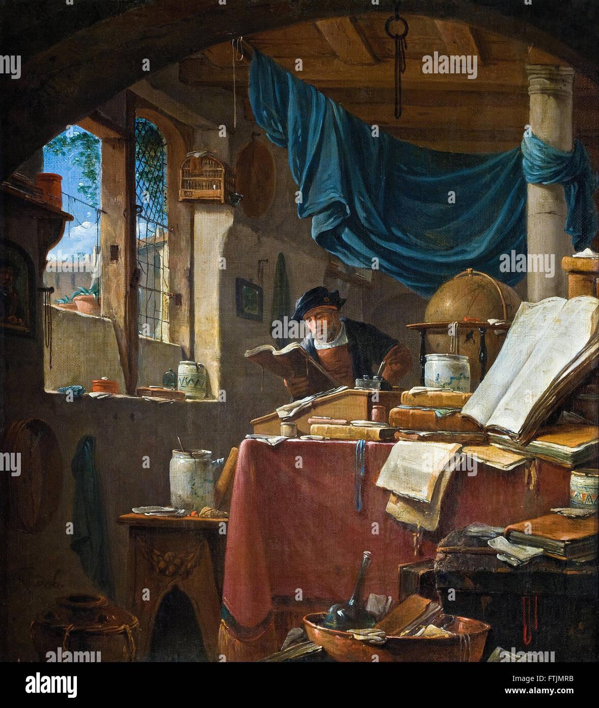 Thomas Wyck - A scholar in his Study -  Hallwyl Museum - Stock Image