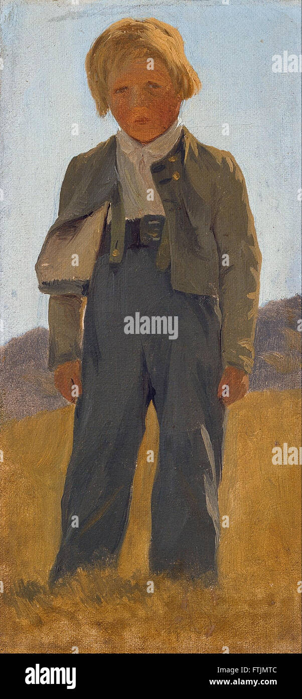 Carlo Dalgas - Shepard boy. Study -  The Hirschsprung Collection - Stock Image