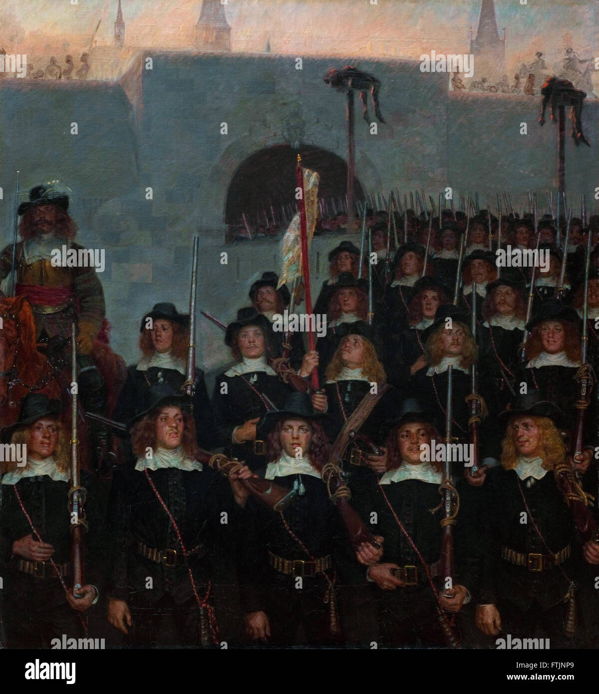 Kristian Zahrtmann - Students leave to defend Copenhagen in 1658 -  The Hirschsprung Collection Stock Photo