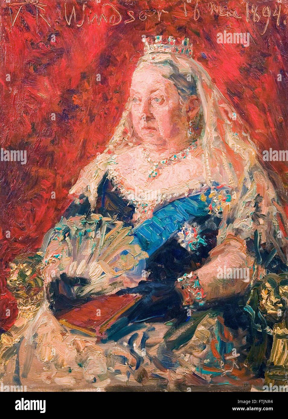 Laurits Tuxen - Portrait of Queen Victoria -  The Hirschsprung Collection - Stock Image