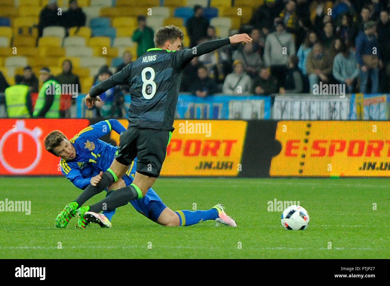 Ukraine vs. Wales. UEFA friendly game Stock Photo