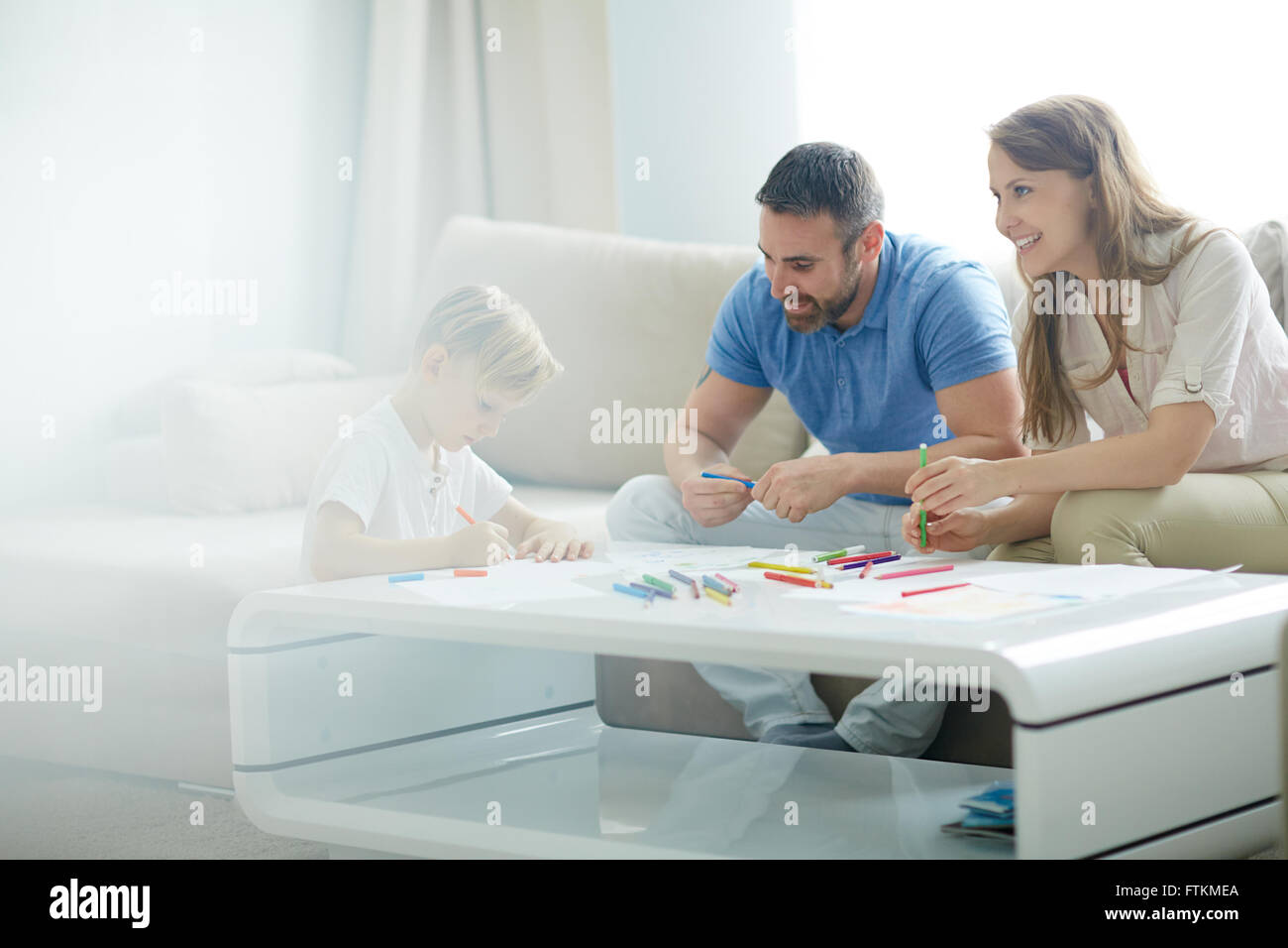 Spending time at home - Stock Image