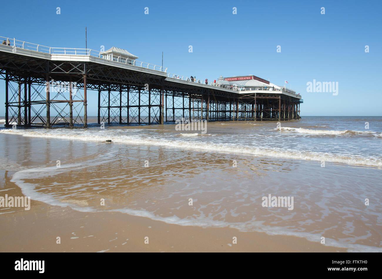 Cromer Pier, Norfolk coastline, England, United Kingdom Stock Photo