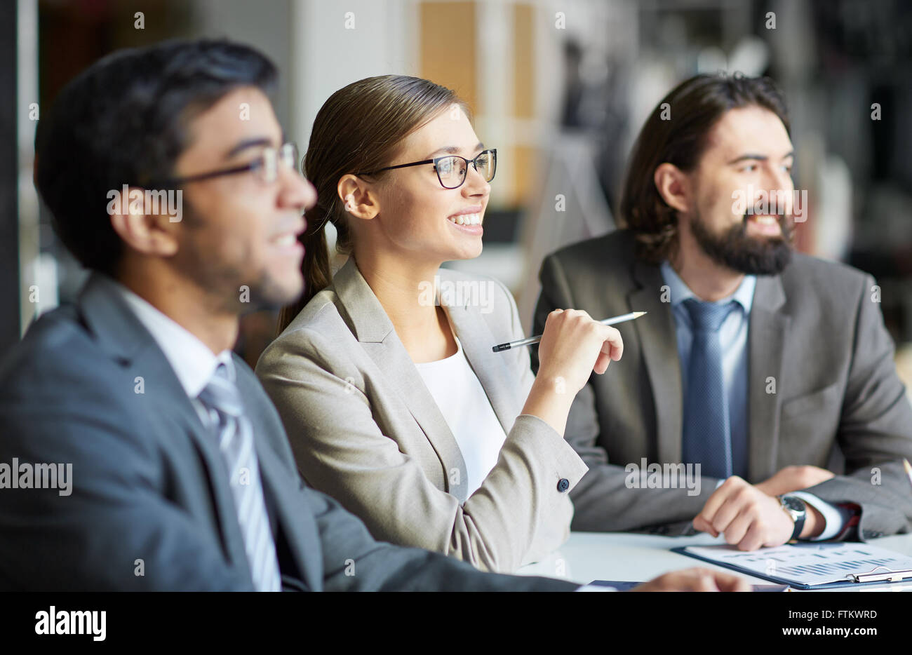 Sitting at seminar - Stock Image