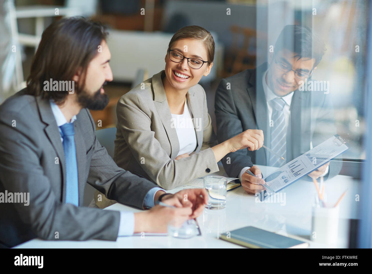 Discussion of data - Stock Image