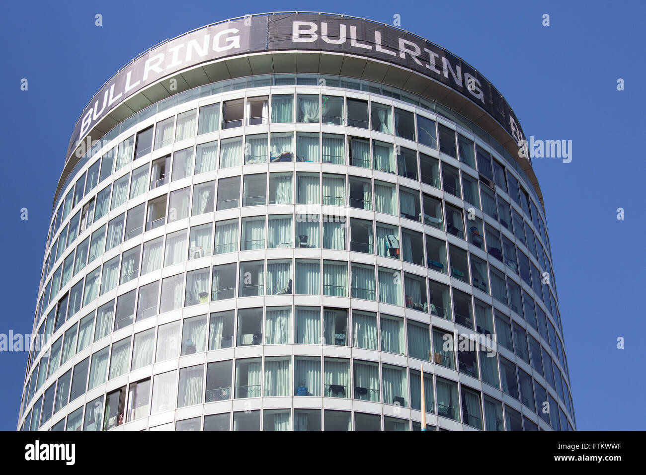 The iconic Rotunda Building situated next to the Bullring. The Rotunda comprises of Flats and rented apartments. - Stock Image