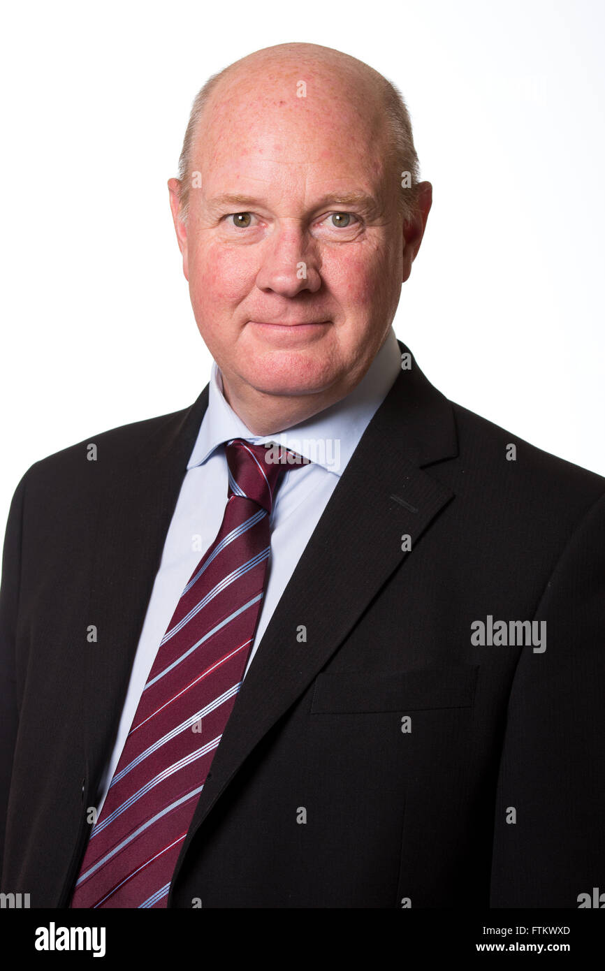 Steve Hollis pictured shortly after being appointed Chairman of Aston Villa Football Club, Birmingham. - Stock Image