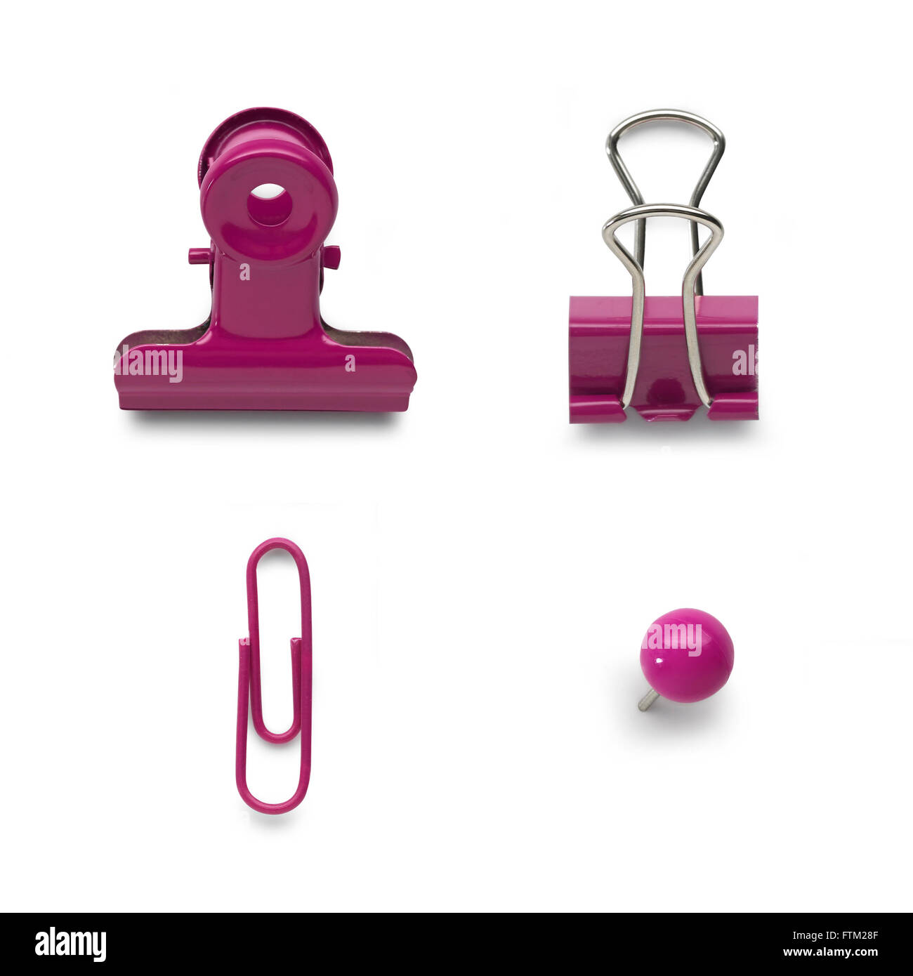 Pink office stationary - Stock Image