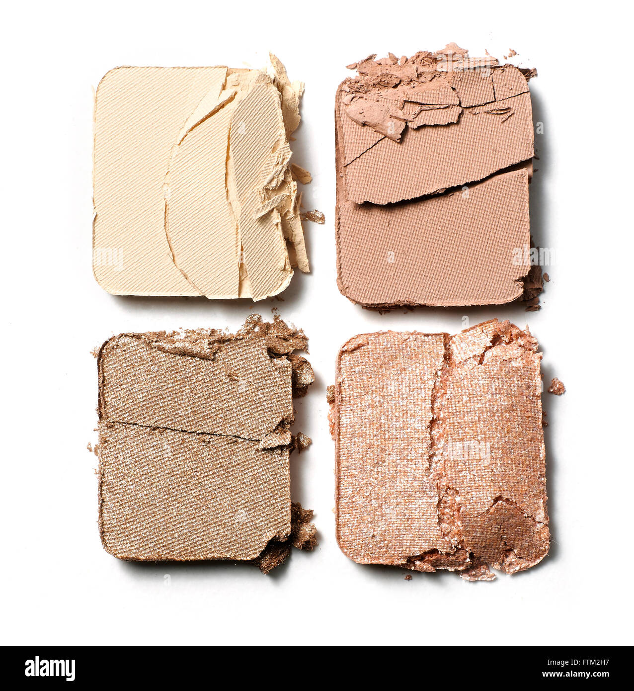 Cracked eye shadow palette - Stock Image