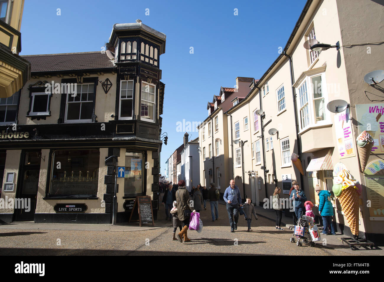Old fishing town of Cromer, Norfolk coastal town, East Anglia, England, United Kingdom - Stock Image