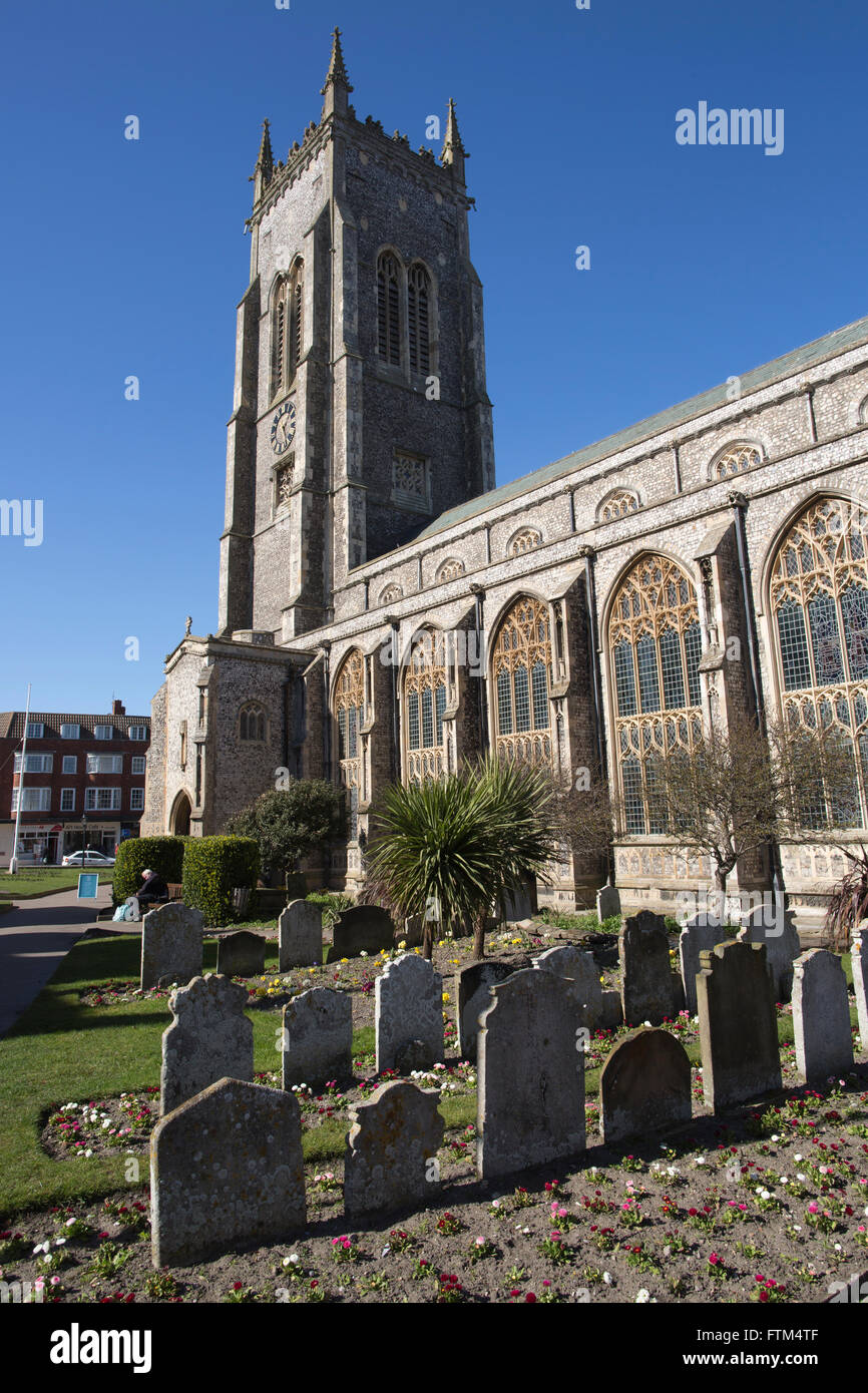 Church Parish Church, Church of St Peter and St Paul, Cromer, Norfolk, East Anglia, England, United Kingdom - Stock Image