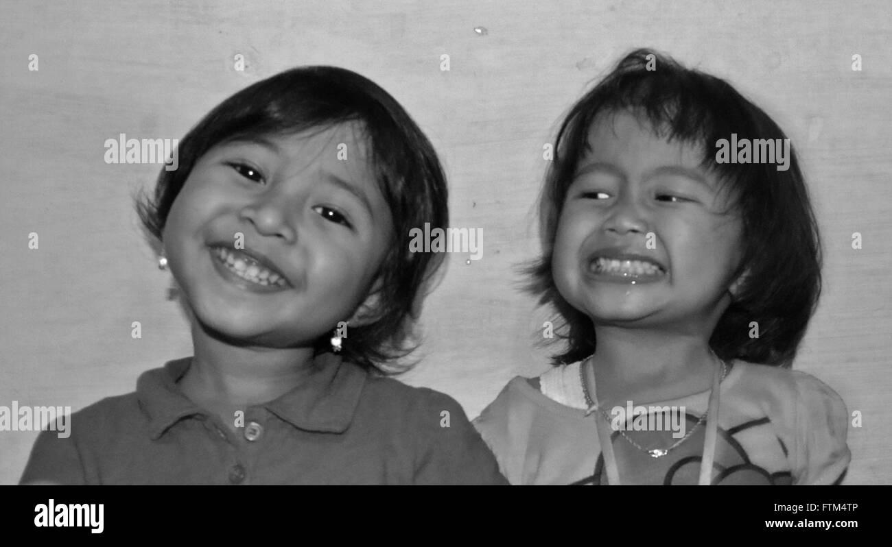 Smillling Kids - Stock Image