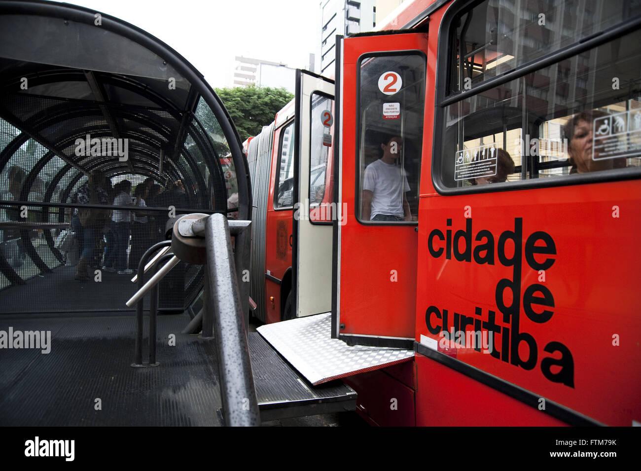 Public transport in Curitiba - Stock Image
