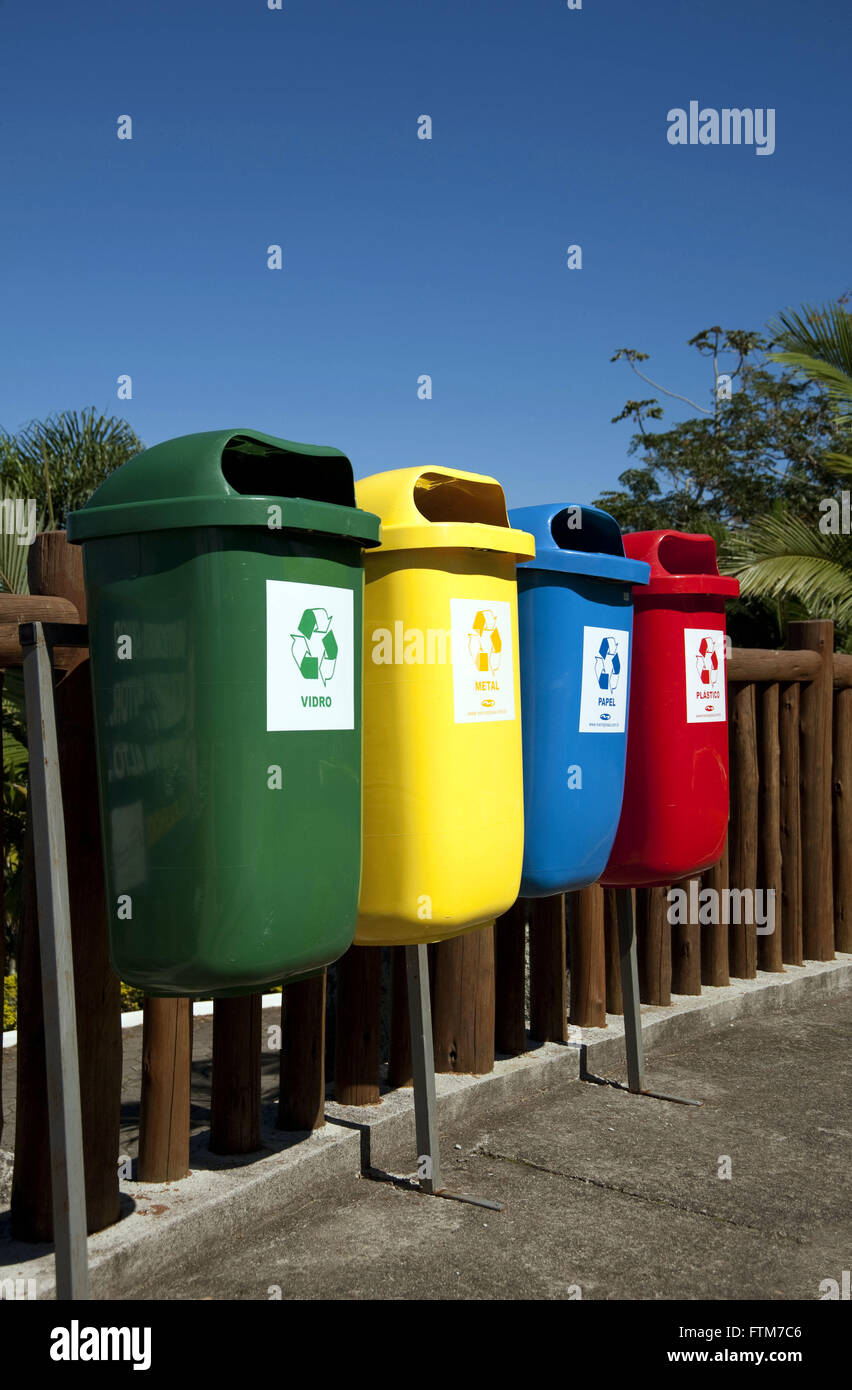 Collectors of recyclable waste - Stock Image