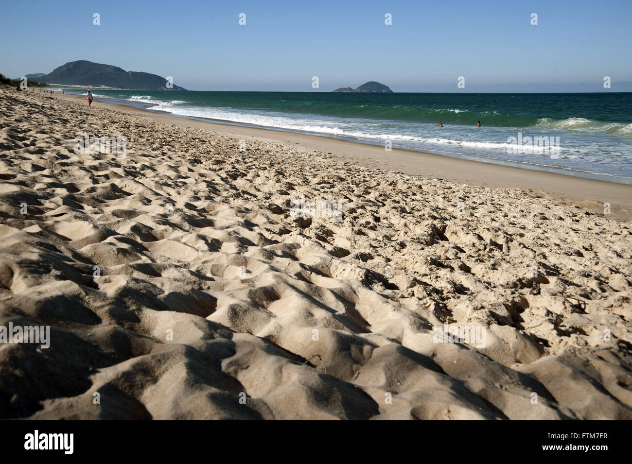 Mocambique beach in the coastal city of Florianopolis - Stock Image