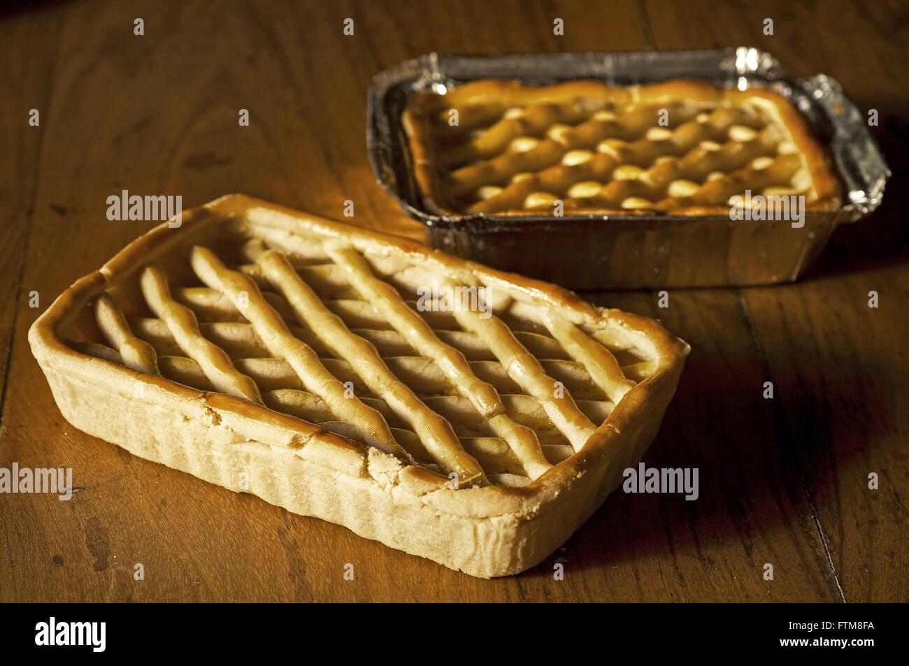 Chicken pie - sweet and greengrocers Farm Santa Luzia - Stock Image