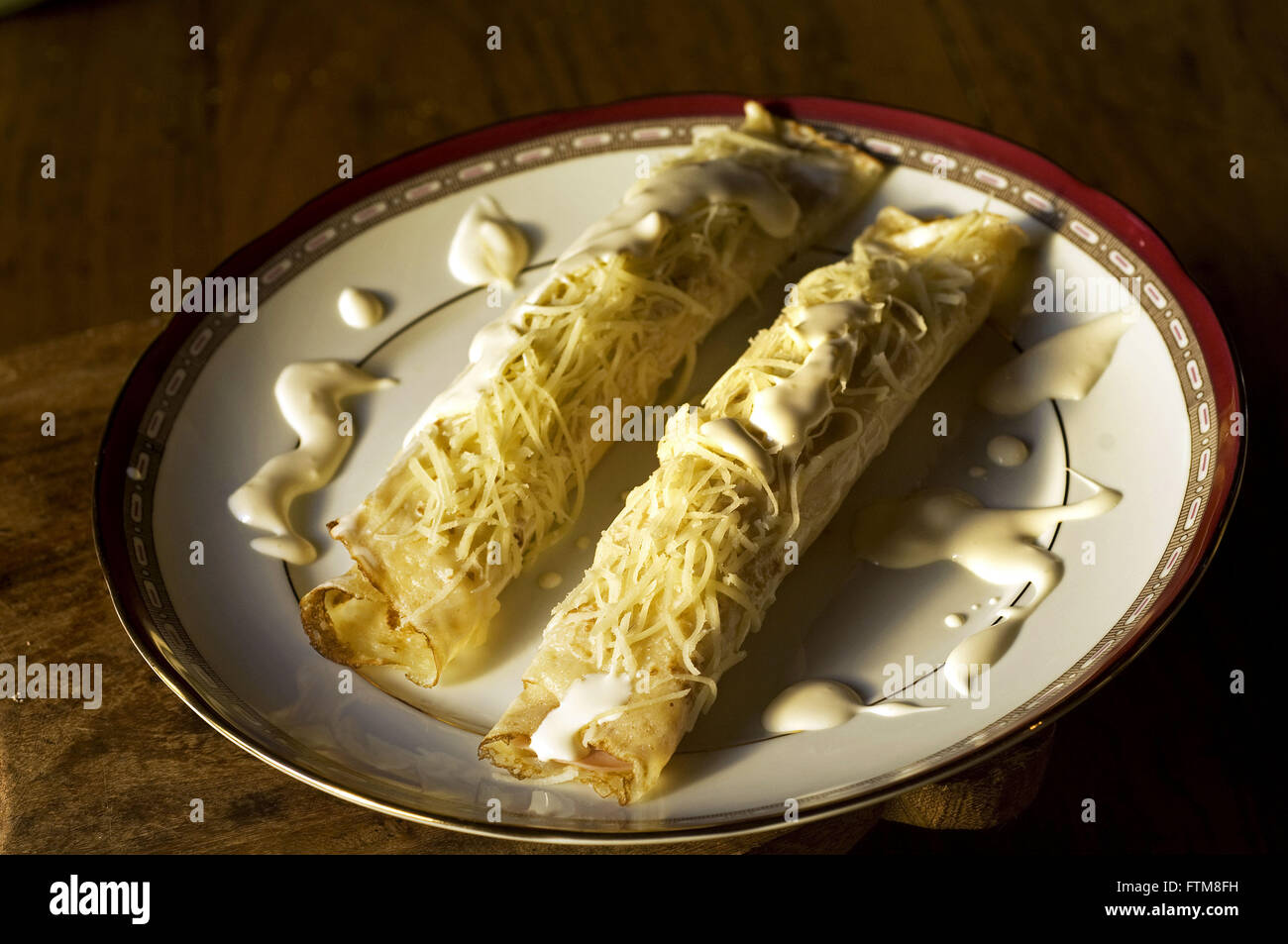 Pancake - Sweet and greengrocers Farm Santa Luzia - Stock Image