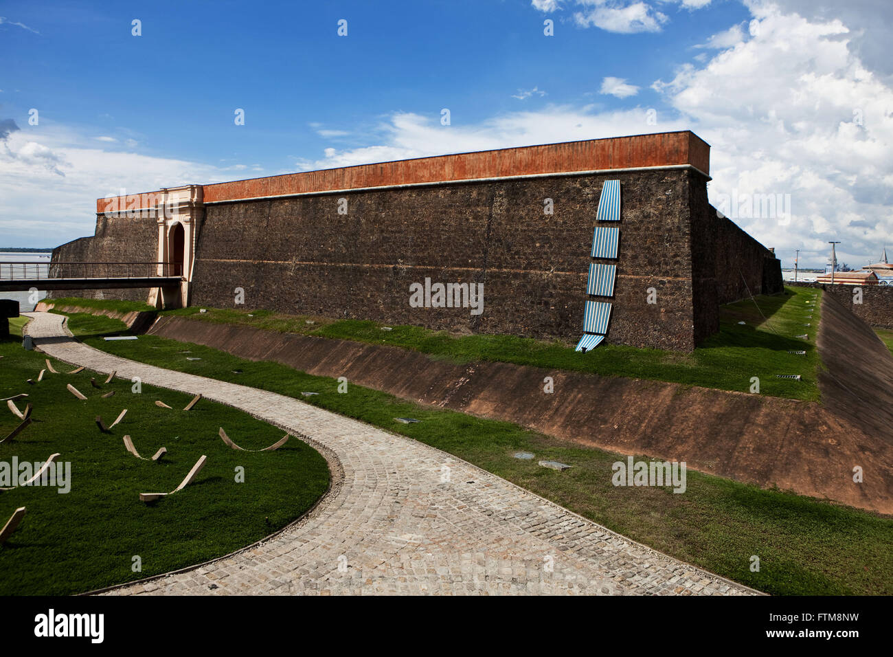 Fort Crib or Castle Fort on the bank of the mouth of the Rio Guama - Bay of Guajara - Stock Image