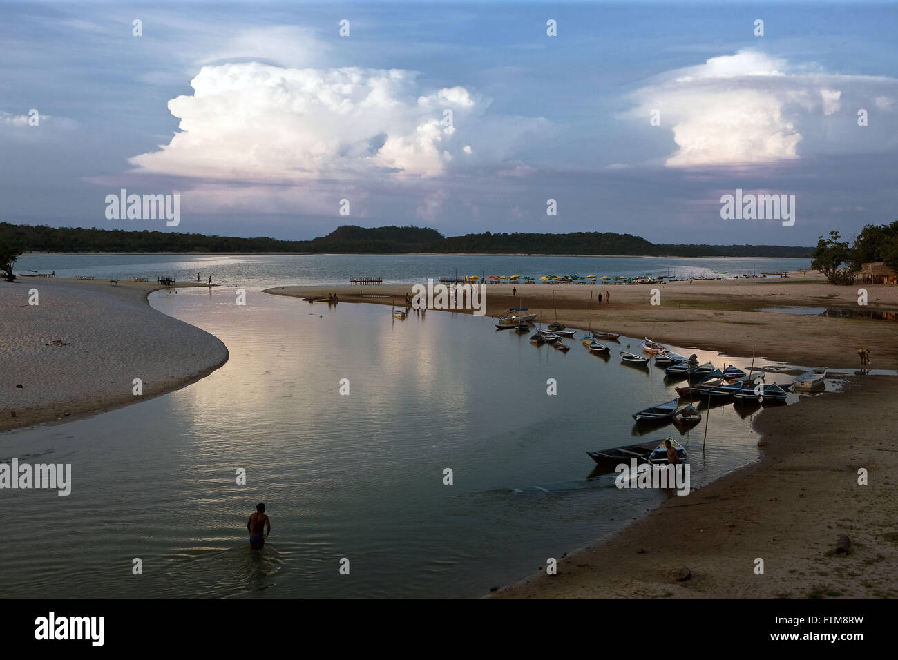 Alter do Chao river beach in Rio Tapajos - Stock Image