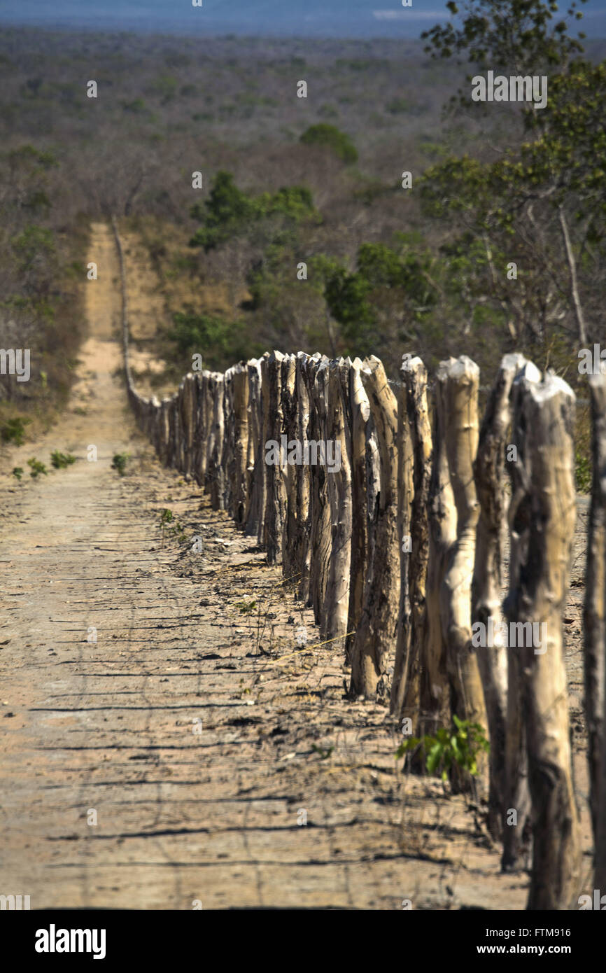 About dividing property in rura Barra district - west of Bahia - Stock Image