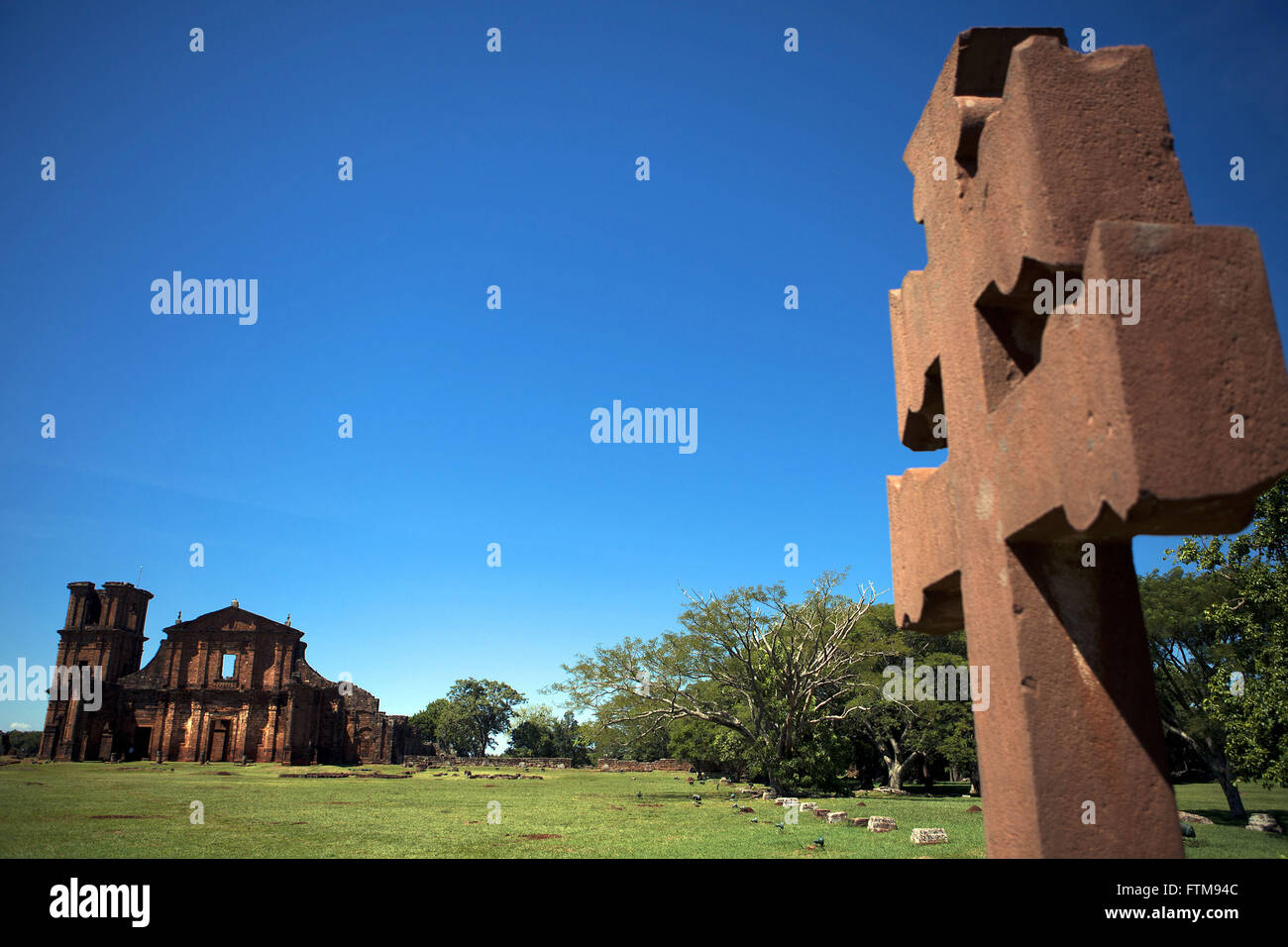 Ruins of Sao Miguel das Missions - Stock Image