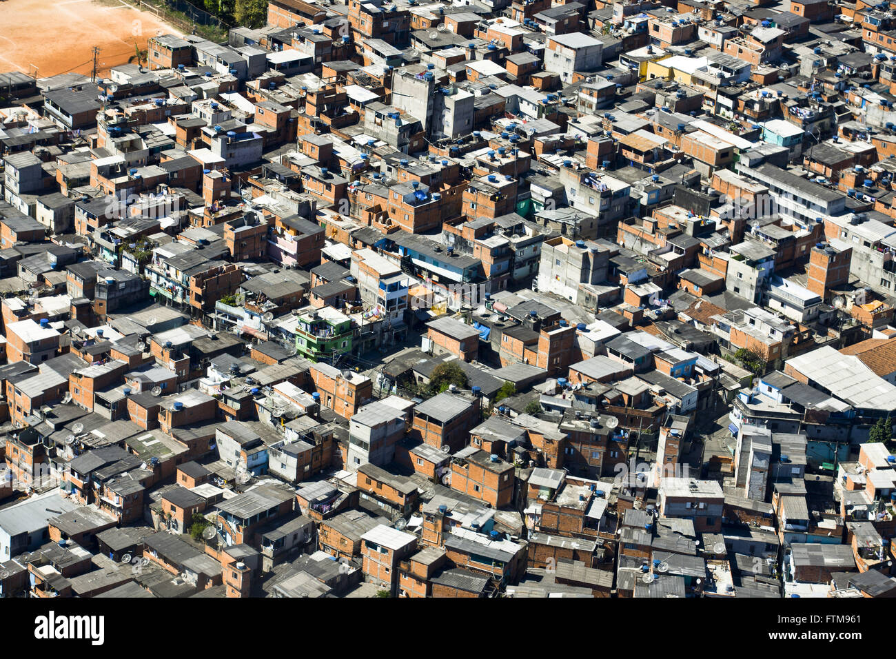 Aerial view of affordable housing - Stock Image