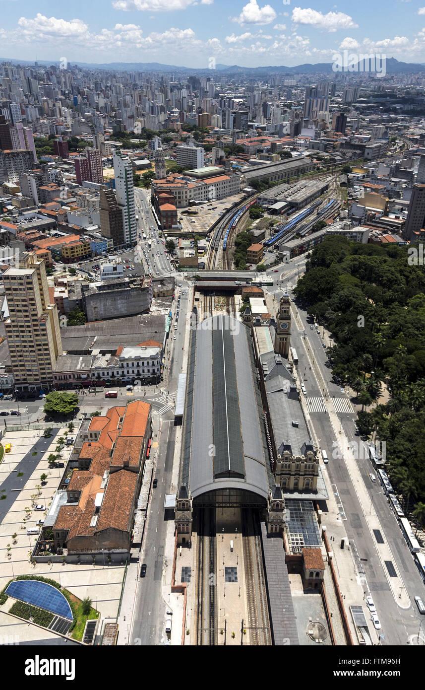 Season of Light - Station multimodal railway and metro-Museum of the Portuguese Language Stock Photo
