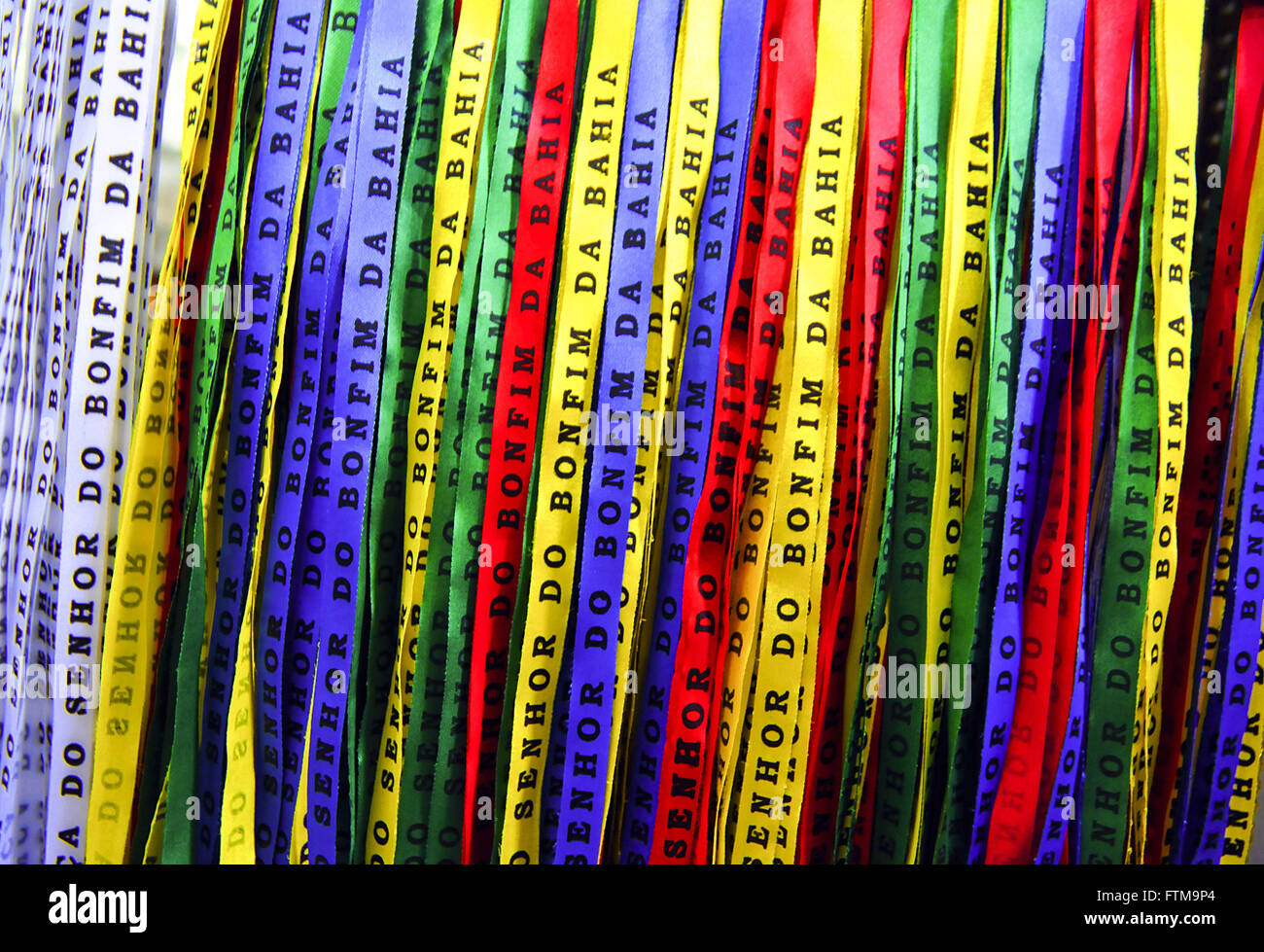 Ribbons of Our Lord of Bonfim - Stock Image