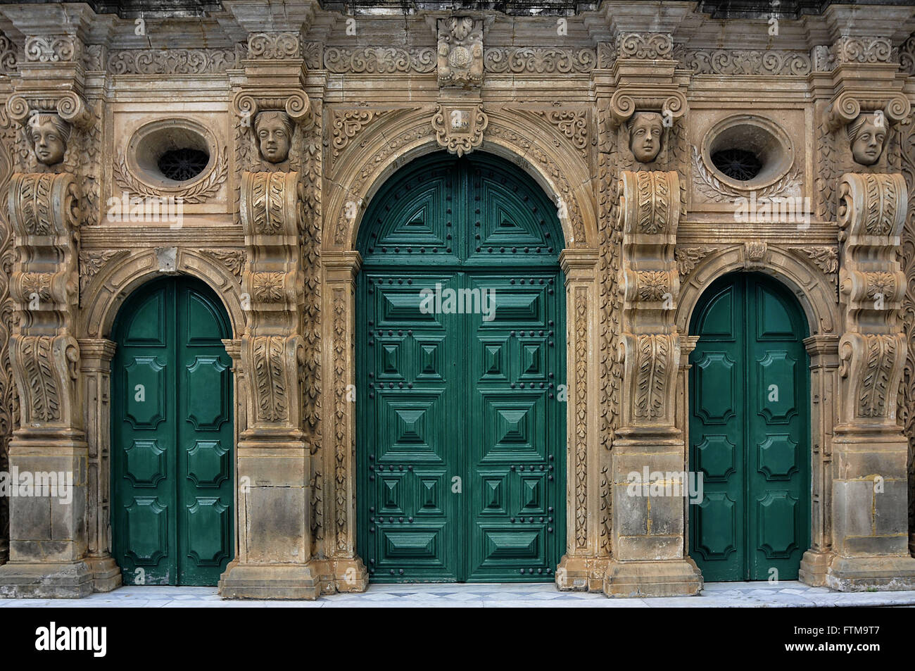 Church of the Third Order of St. Francis - Construction 1703 - Centro Historico - Stock Image