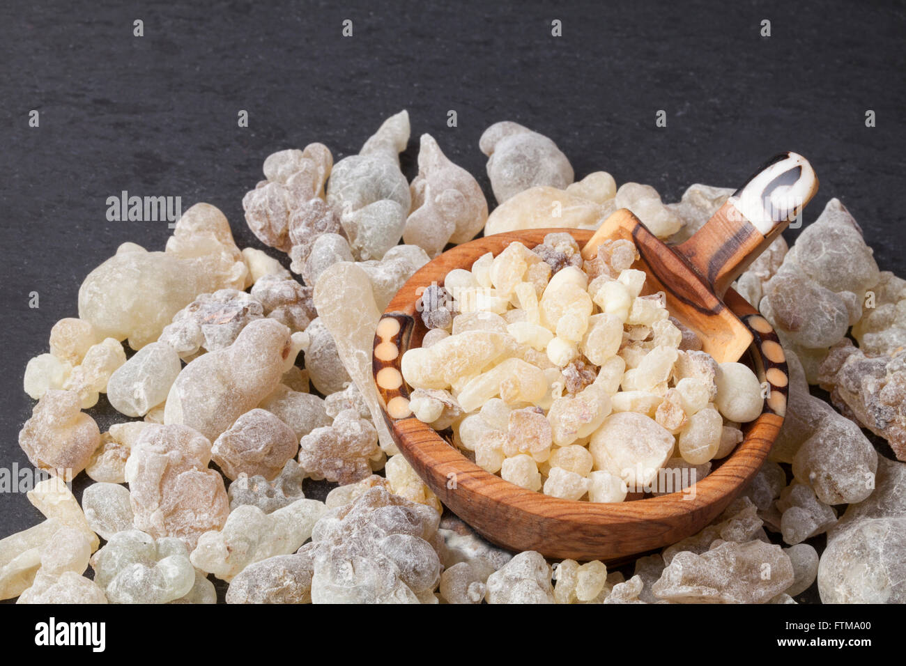 Frankincense is an aromatic resin, used for religious rites, incense and perfumes. - Stock Image