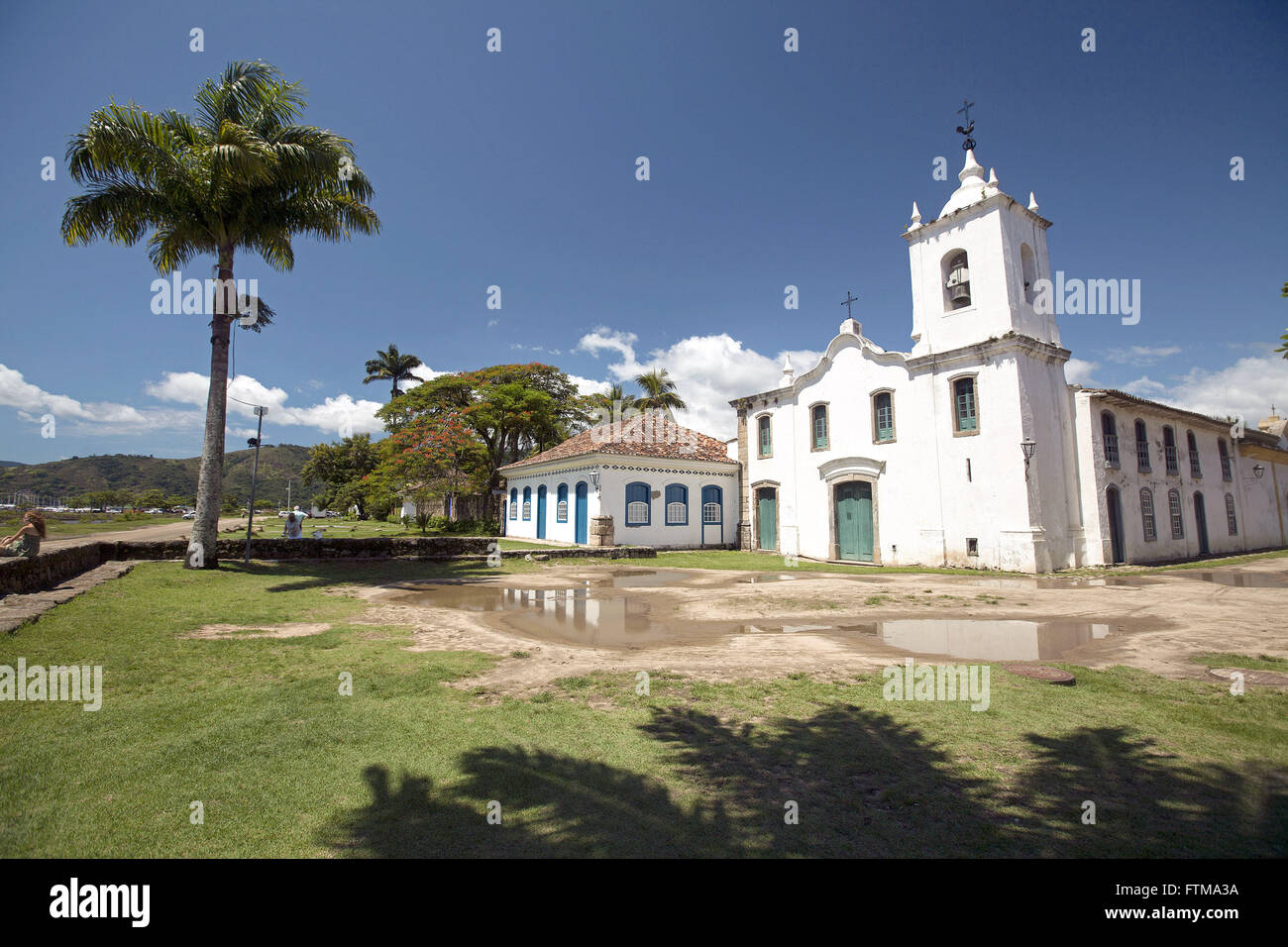 Church of Our Lady of Sorrows situated on Fresca Street - Old Town Stock Photo