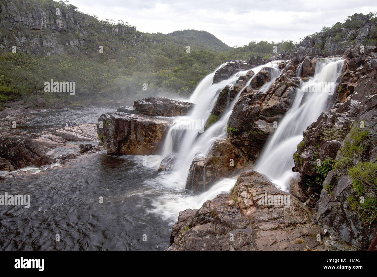 Waterfall of the Cariocas - Chapada dos Veadeiros National Park - Stock Image