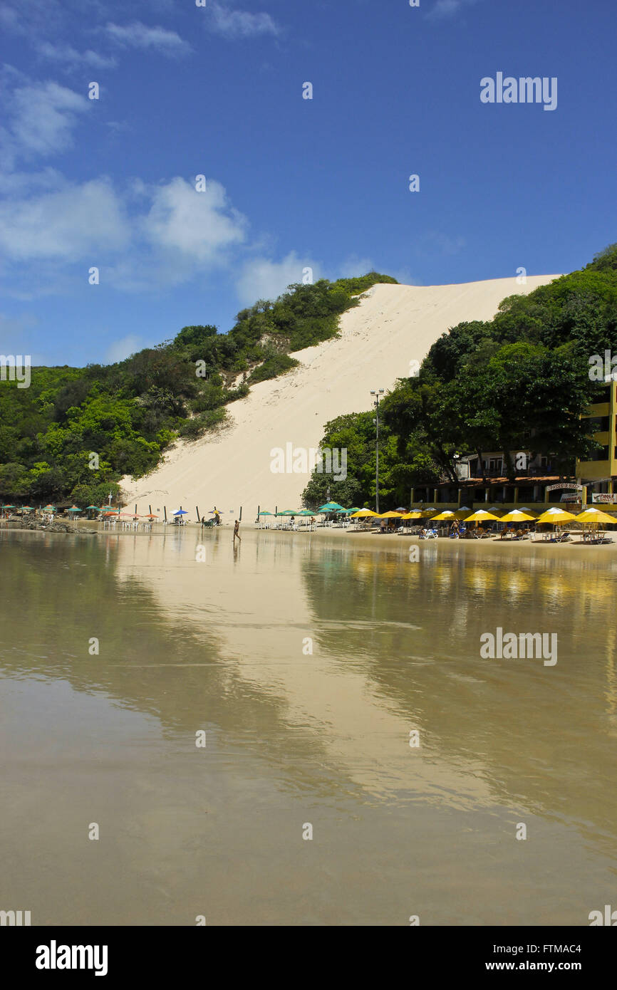 Bald Hill - Dune 120 m high in the preserved area of Ponta Negra Beach - Stock Image