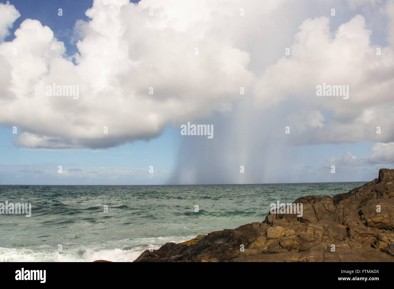 Precipitation of rain on the Prainha - Stock Image