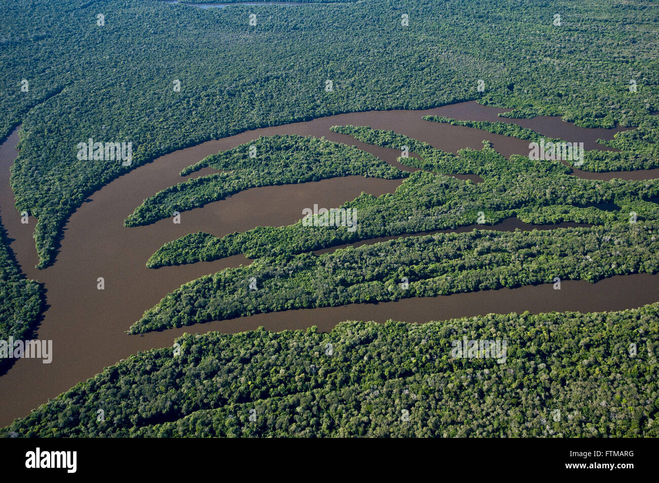 Aerial view of the lakes of the Cantao State Park - Stock Image
