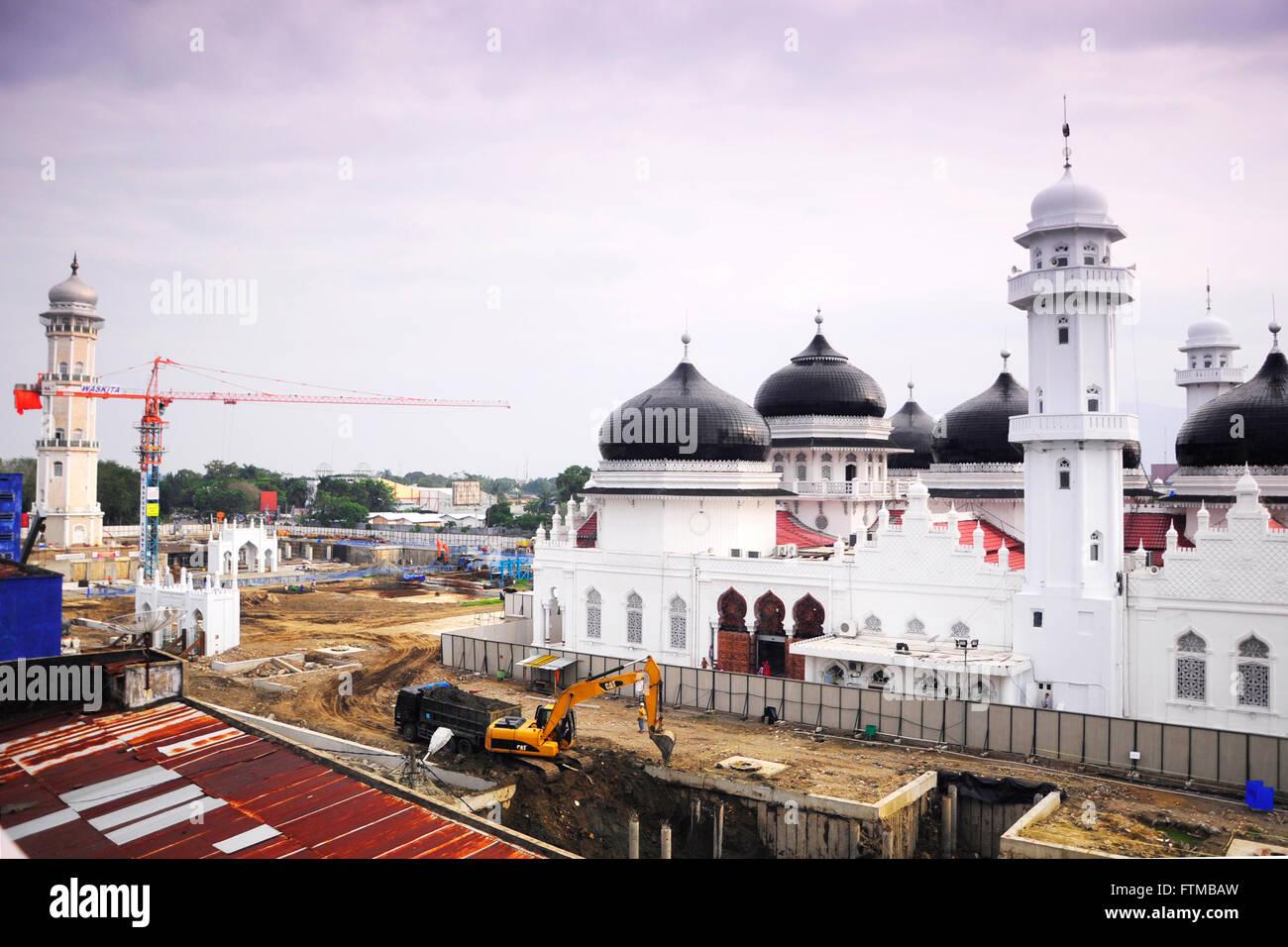 baiturrahman mosque in Banda Aceh-Indonesia Stock Photo