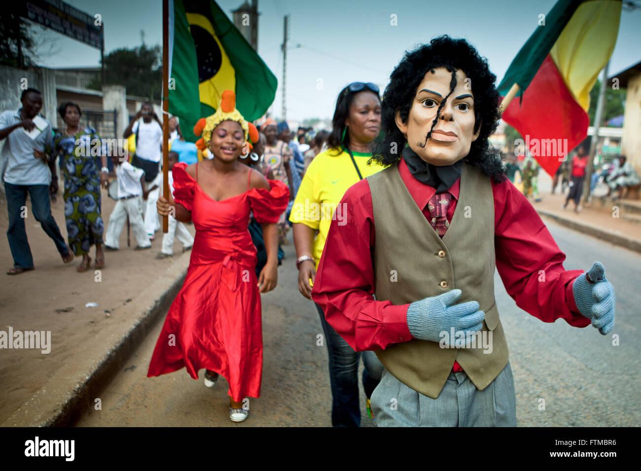 Carnival of Brazilian descendants - the acute - in the neighborhood Ongala - Stock Image