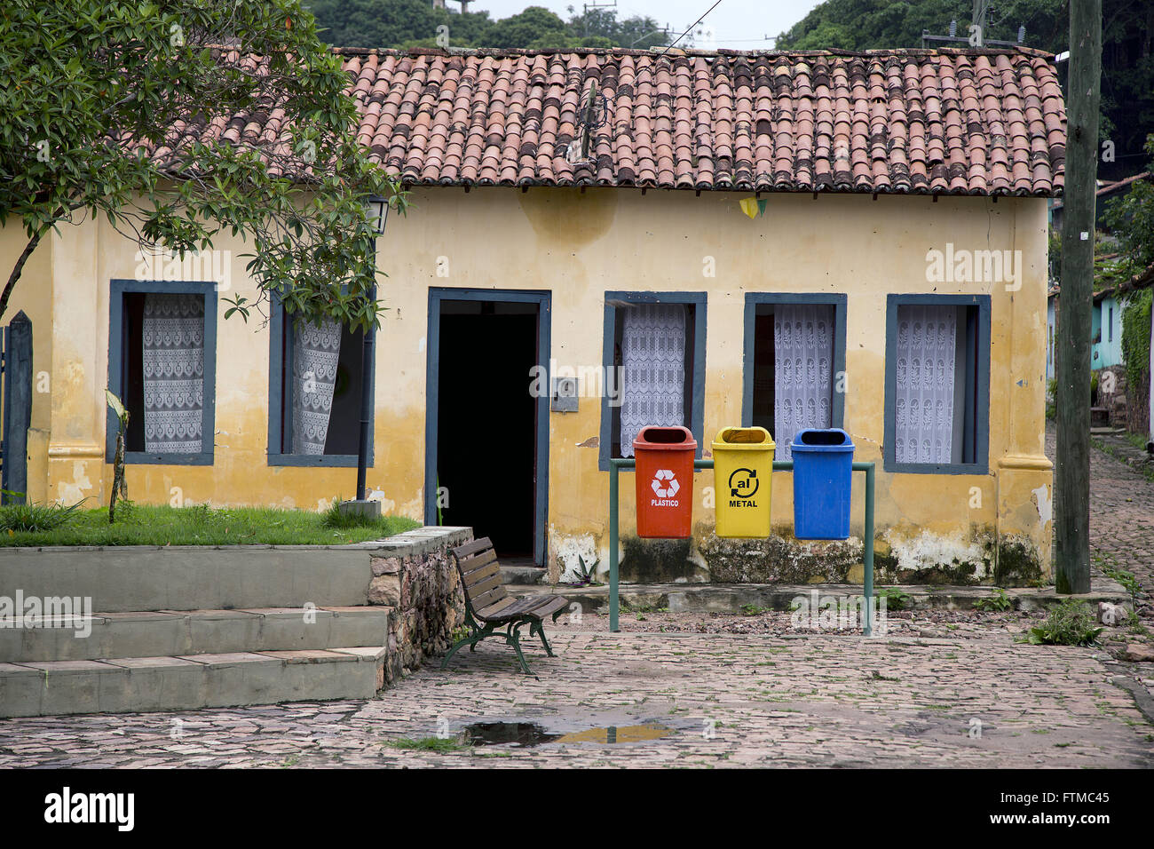 District Igatu - colonial houses of the nineteenth century in Chapada Diamantina - Stock Image