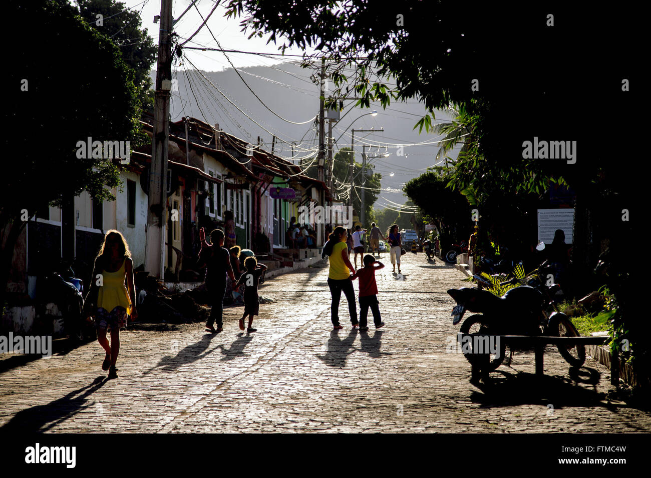 Caete-Acu village in the valley of Capao - Stock Image