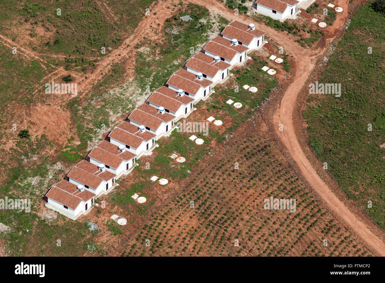 Aerial view of public housing - Stock Image