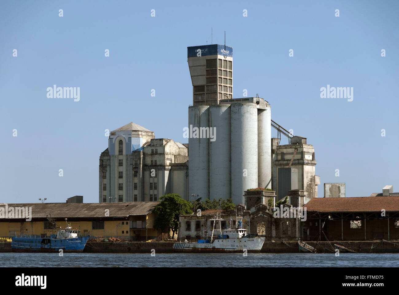 Warehouses and storage silos Bunge in storage 8 - Stock Image