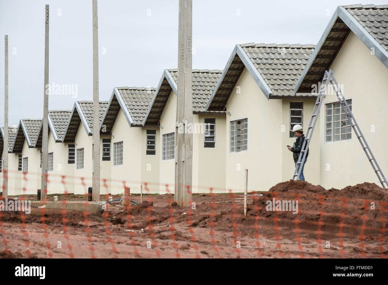 Construction of public housing program Minha Casa Minha Vida - Stock Image