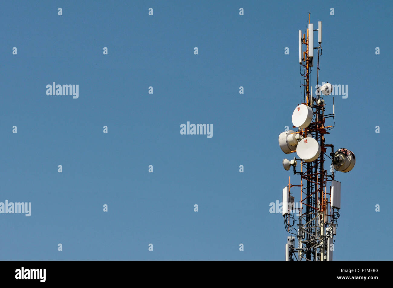 Cell phone tower - Stock Image