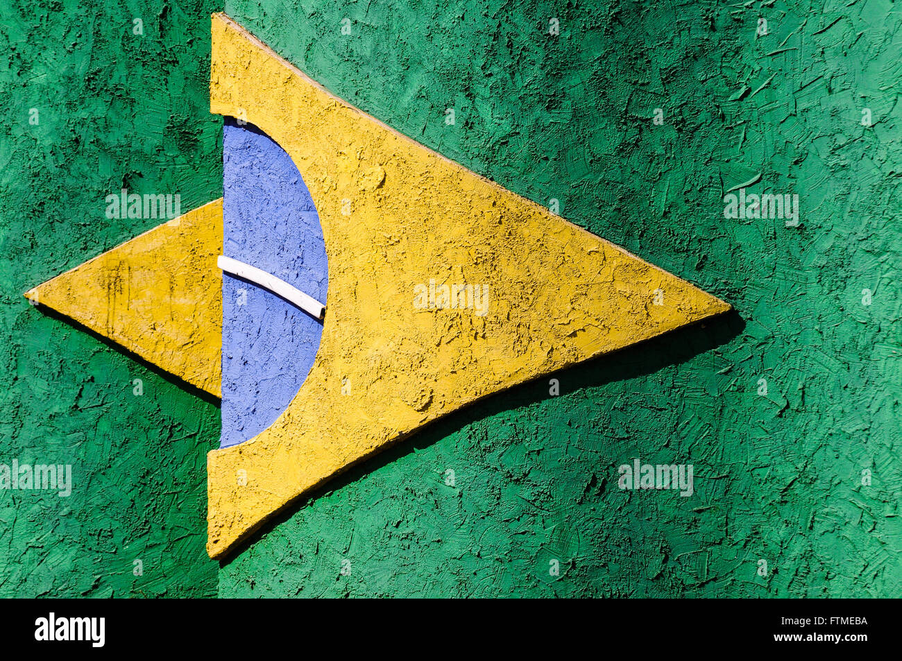 Flag of Brazil stylized - Stock Image